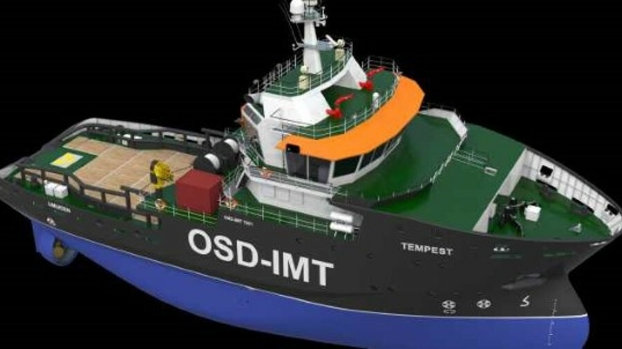 Tug design adapted for oceangoing and offshore towage