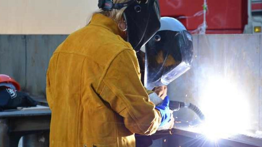 Welding has started on the keel of the first of four tugboats at NBBB for Foss Maritime