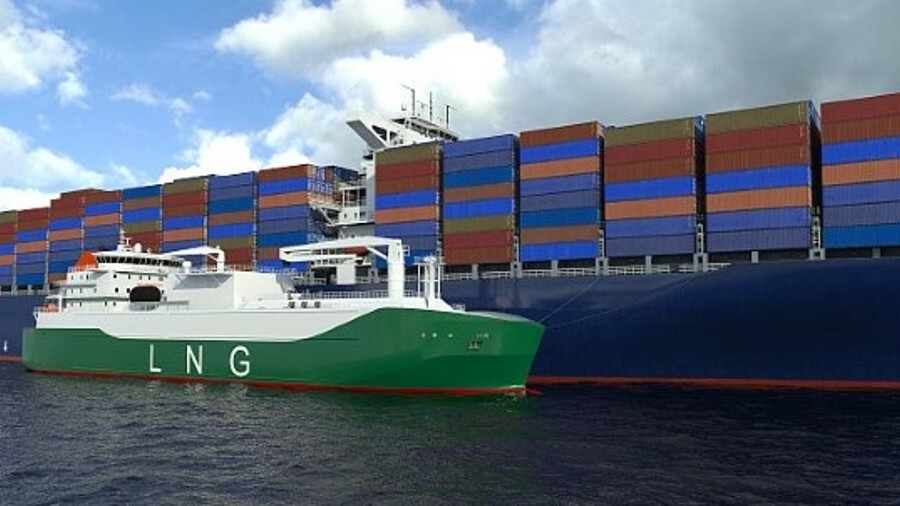 Sembcorp Marine is building Asia's largest LNG bunker vessel for deployment in Singapore (credit: LM