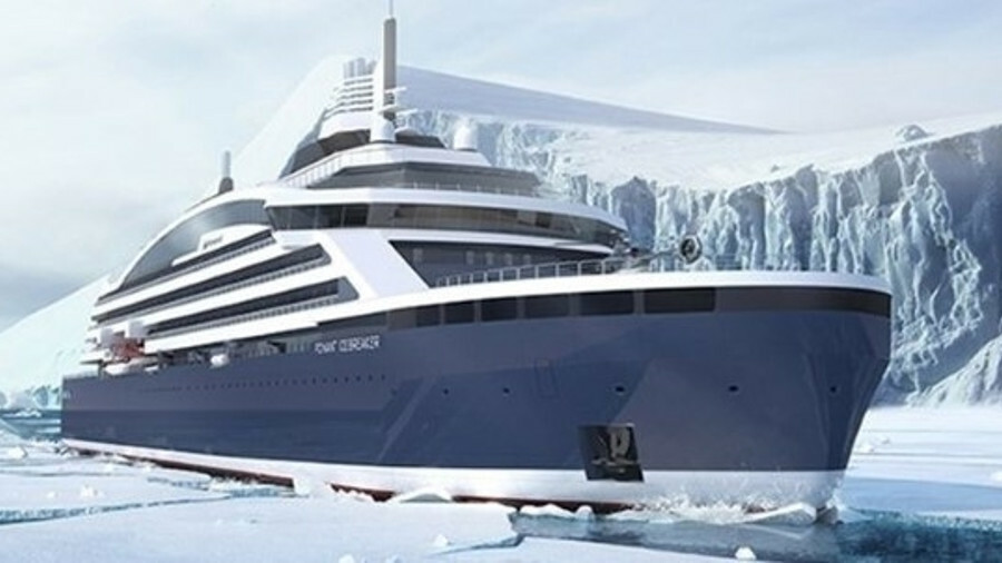 Ponant's icebreaker is built on the double-acting principle, allowing it to navigate stern first as