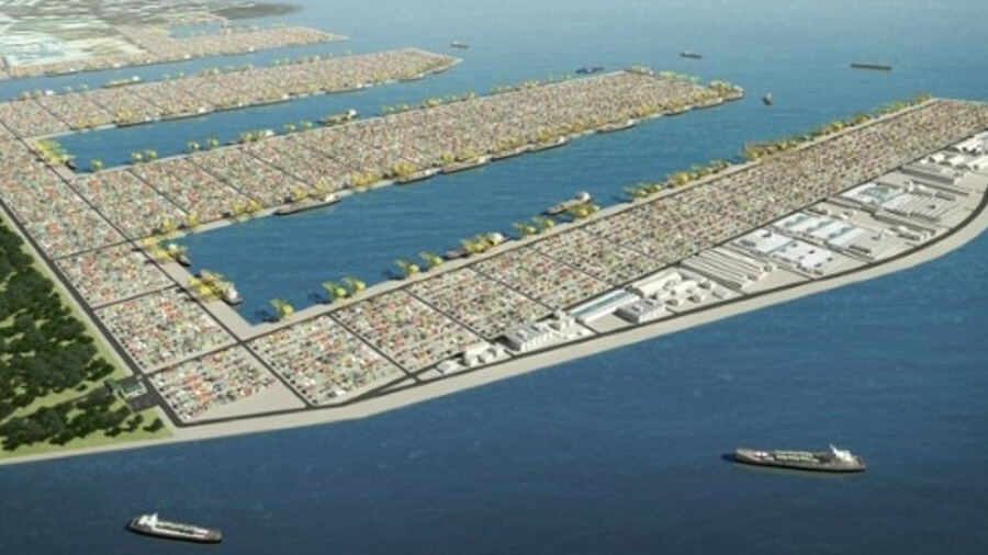 An artist's rendering of the new Tuas port (credit: Maritime and Port Authority of Singapore)