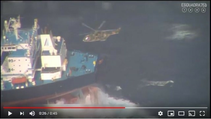 Captain of Aframax tanker Minerva Gloria airlifted in the middle of the Atlantic