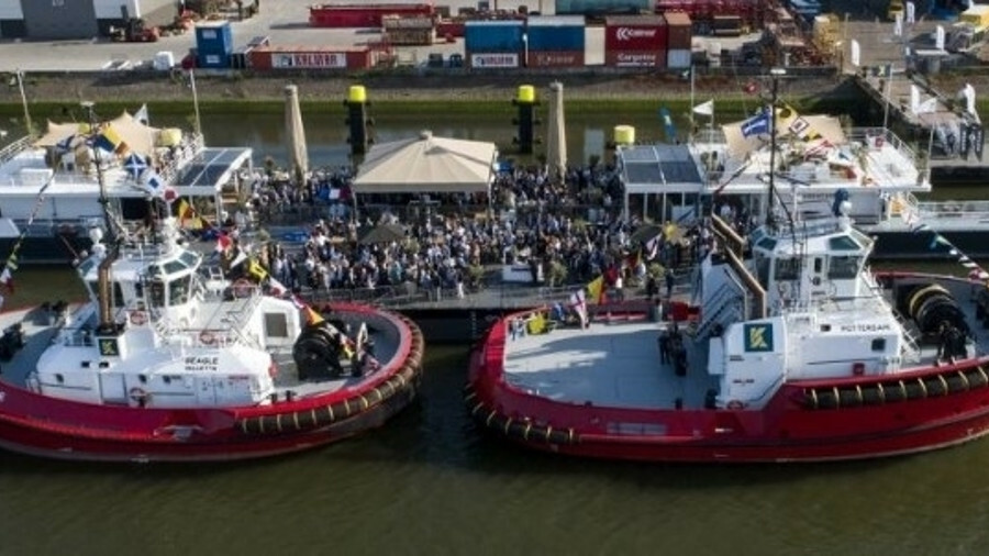 Kotug Smit Towage named two new tugboats, Beagle and Rotterdam, in June 2018