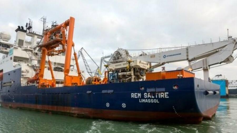 Subsea construction vessel Rem Saltire was mobilised at Damen Shiprepair Vlissingen for work in the