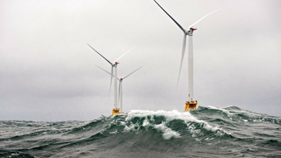 Windfarm support vessels are growing in size to handle larger wave heights (credit: US Department of