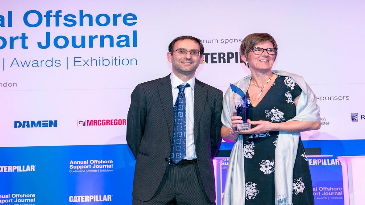 Kjersti Kleven, Winner of Offshore Support Journal's Lifetime Achievement Award 2018