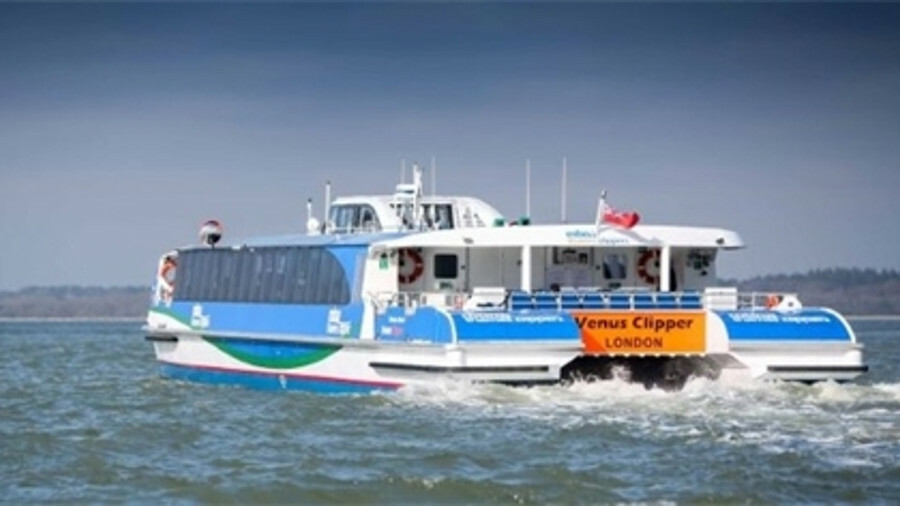 X Wight Shipyard has delivered Venus Clipper to MBNA Thames Clippers, which came in under its design