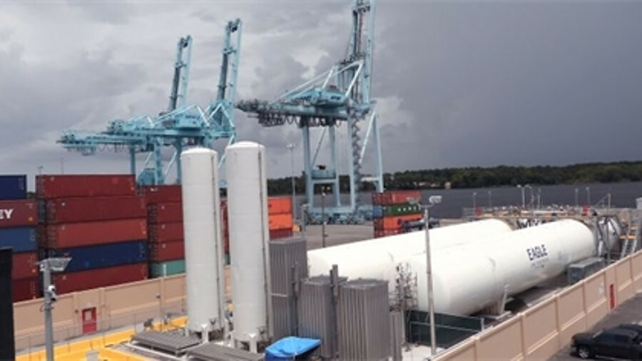 Eagle LNG's Talleyrand LNG bunkering facility is in an active container terminal