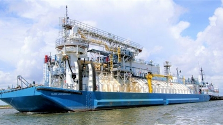 X LNG bunker barge Clean Jacksonville has a Mark III Flex cargo containment system (image: The Shear
