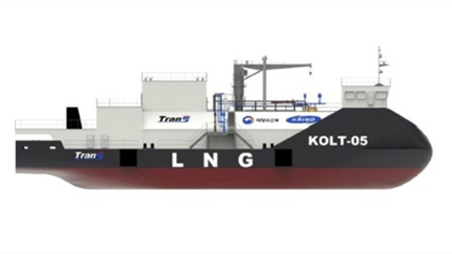 Trans Gas Solution's LNG bunker barge concept received an AiP from the Korea Register (credit: Trans Gas Solutions)