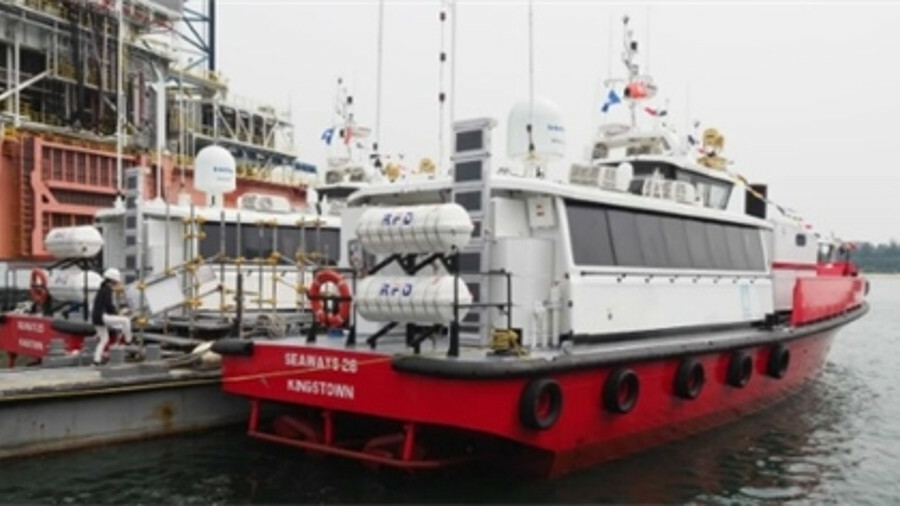 Based on a stock design, Seaways International's new crew boats incorporate firefighting capability