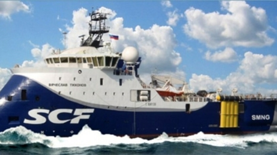 X The 3D seismic vessel Vyacheslav Tikhonov can deploy eight streamers of 6,000 m each (credit: Ulst