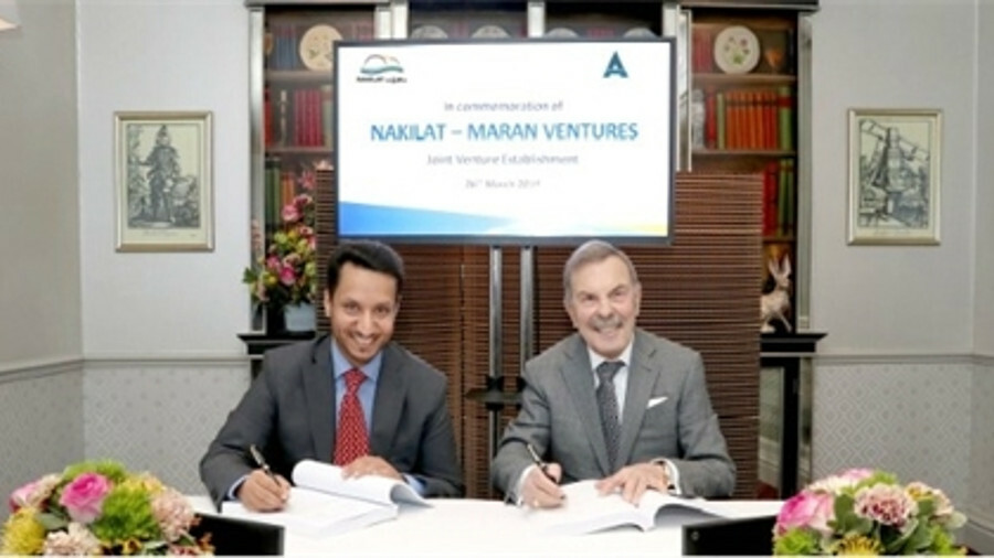 X A powerful partnership: Nakilat chief executive Abdullah Al Sulaiti and Maran Ventures chairman Jo