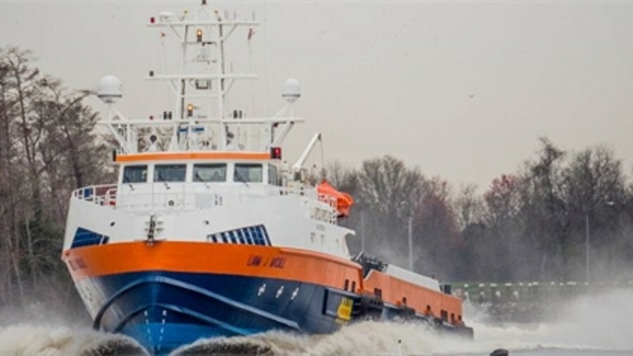 X Liam J McCall, sister vessel to the Libby J McCall, can reach a speed of 40 knots (image: Incat Cr