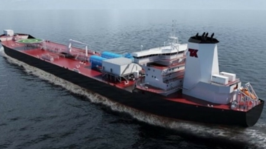X Teekay's E-Shuttle tankers under construction at SHI inspired the yard group's cooperation with Wä