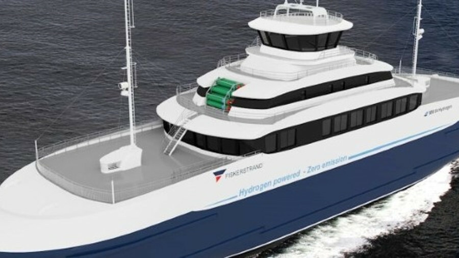 X The rapid-frequency, 10-km ferry route will test the robustness for fuel cell propulsion (credit: