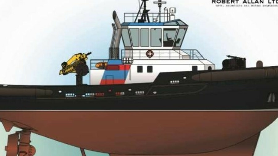Robert Allan TundRA 3200 design with ice-strengthened hulls for ship escort