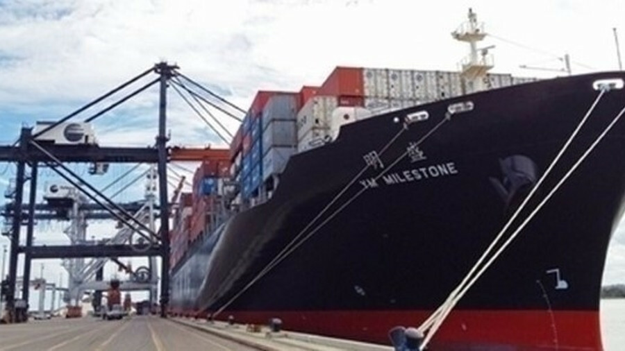 X Yang Ming has signed a charter agreement for four new 11,000 TEU newbuilds (credit Jaxport/Jeff Pr