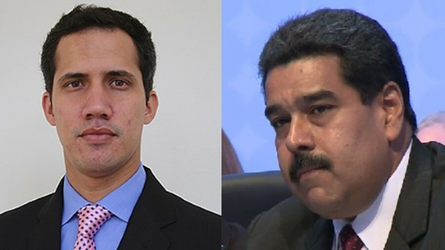 X Juan Guaidó (left) and President Maduro (right): The US sanctions are intended to ultimately force