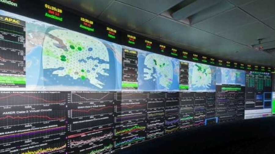 Inmarsat monitors beam usage on its satellites from a control centre in its London headquarters