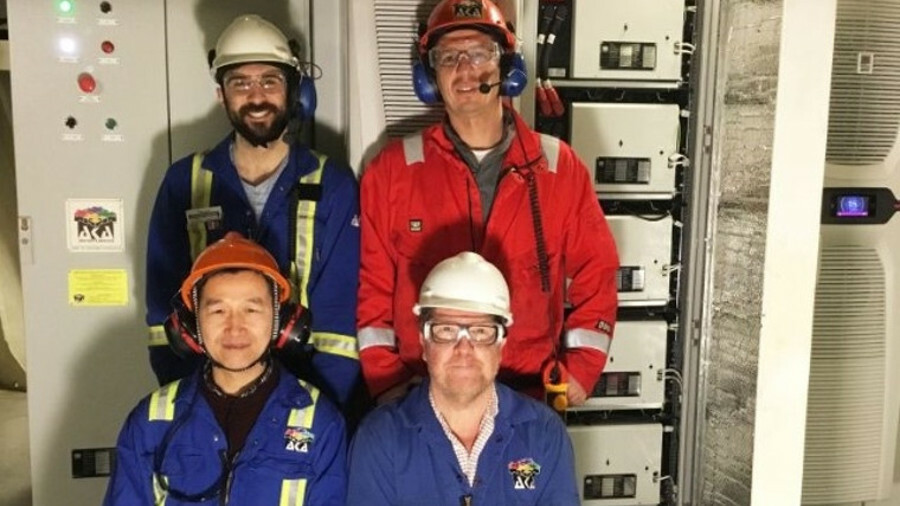 AKA's installation team in front of <i>Spitsbergen's</i> new battery power system