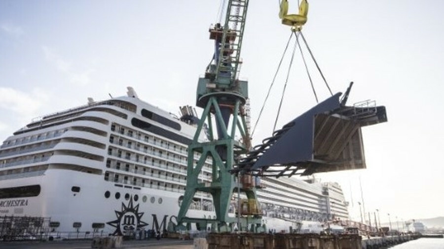 X CNM installed three scrubbers within MSC Orchestra and several modifications were needed in the sh