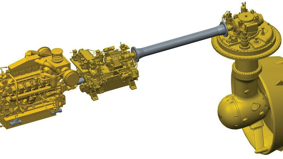 X Planetary gearing allows users of Caterpillar's AVD to optimise propeller speed independently of e