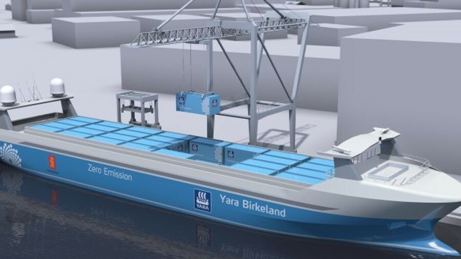 X Yara Birkeland will connect automatically to shore power at one port, with a manual back up at the