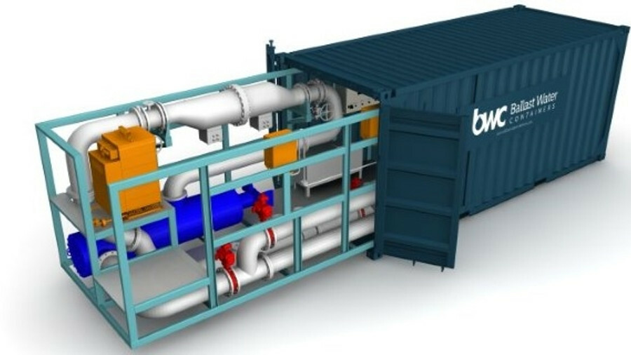 BWC engineered a skid-mounted Erma First FIT to fit inside a container