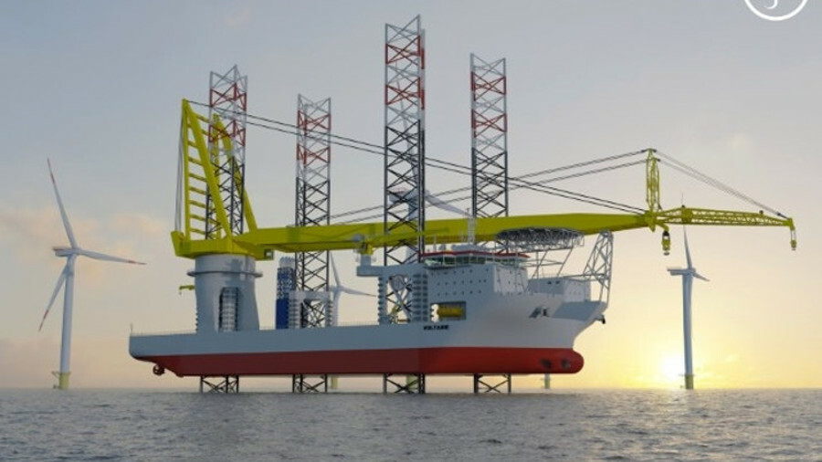 X The capabilities of Jan De Nul's new installation vessel Voltaire will exceed even those of its ex