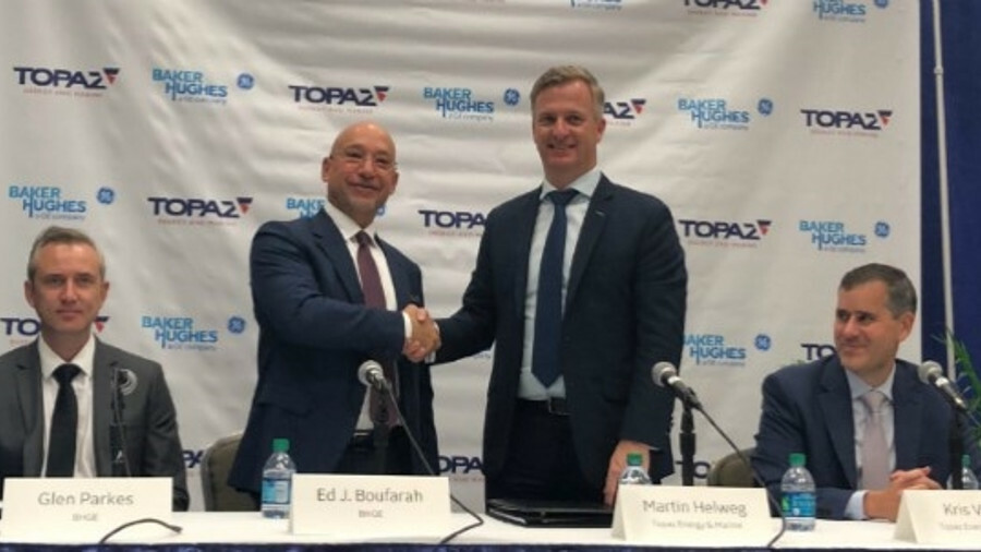 X Topaz Energy signed a long-term agreement at OTC 2019 in Houston to deploy the BHGE's VitalyX cond