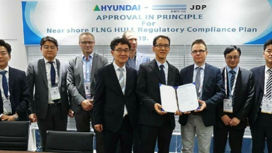 X Class society DNV GL presented Hyundai Heavy Industries with an approval in principle for the desi