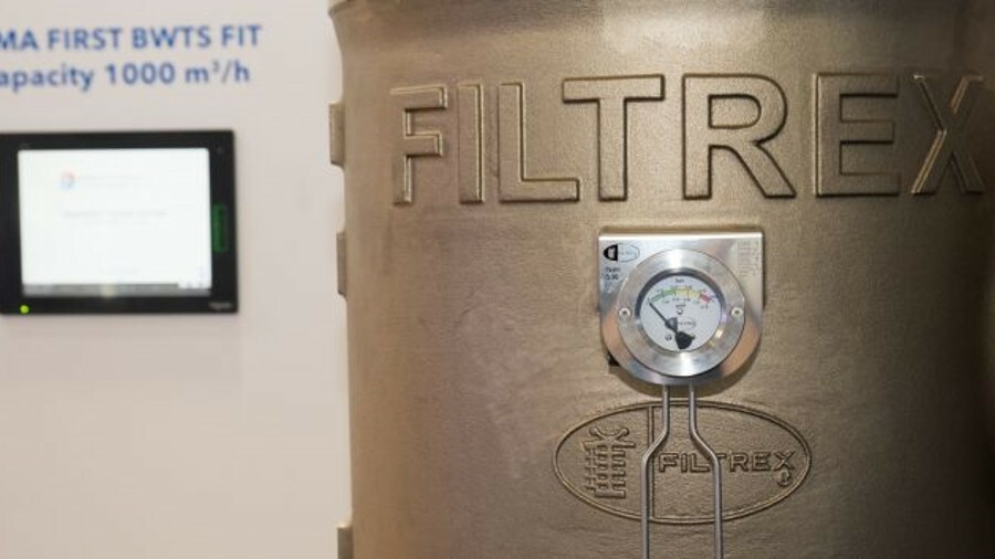 Erma First ballast water treatment system USCG type-approved with Filtrex filters