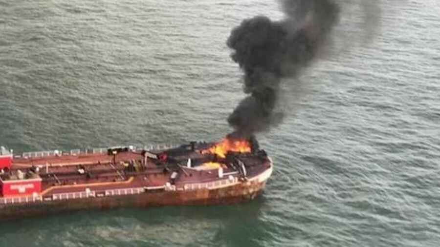 Fire on board Bouchard Barge 255 offshore Texas, US, in October 2017 (source: NTSB/USCG)