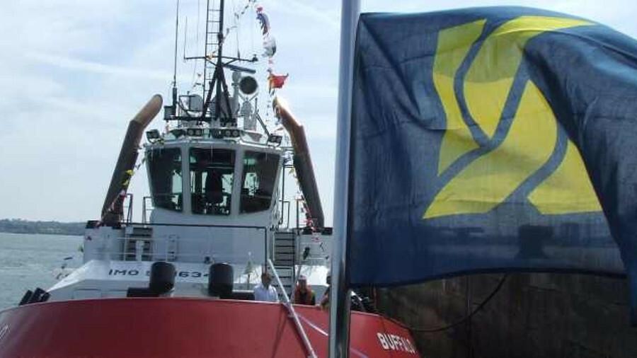 X Kotug Smit Towage named escort tug Buffalo in Southampton on 15 May (credit: Riviera Maritime Medi