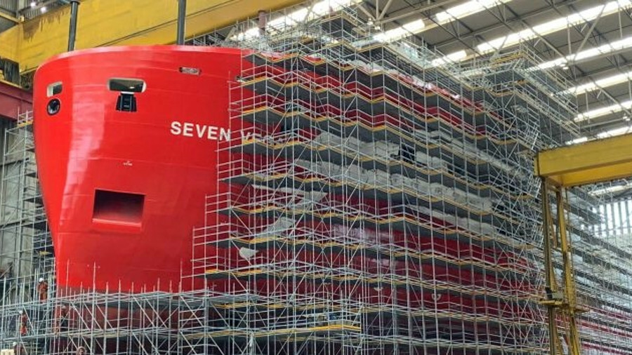 Subsea 7 will add reel-lay vessel Seven Vega in 2020, currently taking shape at Royal IHC shipyard
