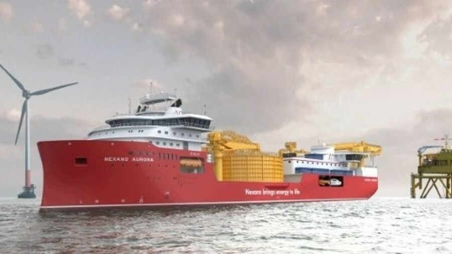 X Nexans' new cable-lay vessel Aurora is designed to work in conditions that would challenge other v