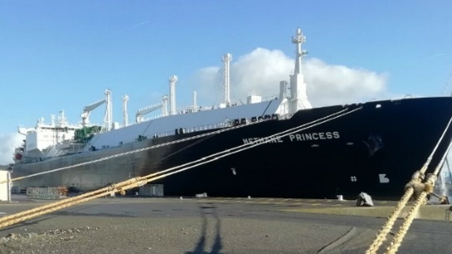 The hull of the Methane Princess was damaged during berthing operations in Equatorial Guinea