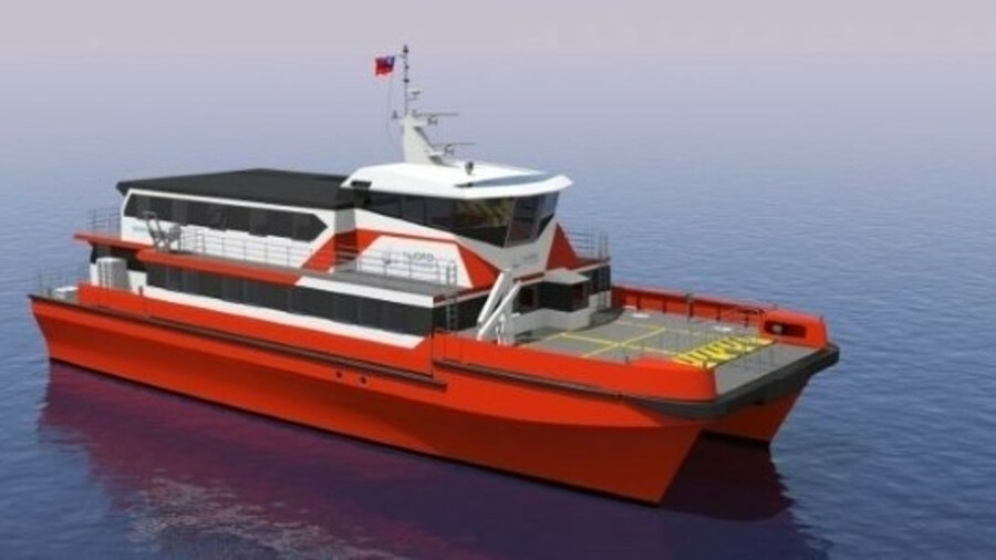 X The SATV combines the ability to remain offshore and provide accommodation for windfarm technician