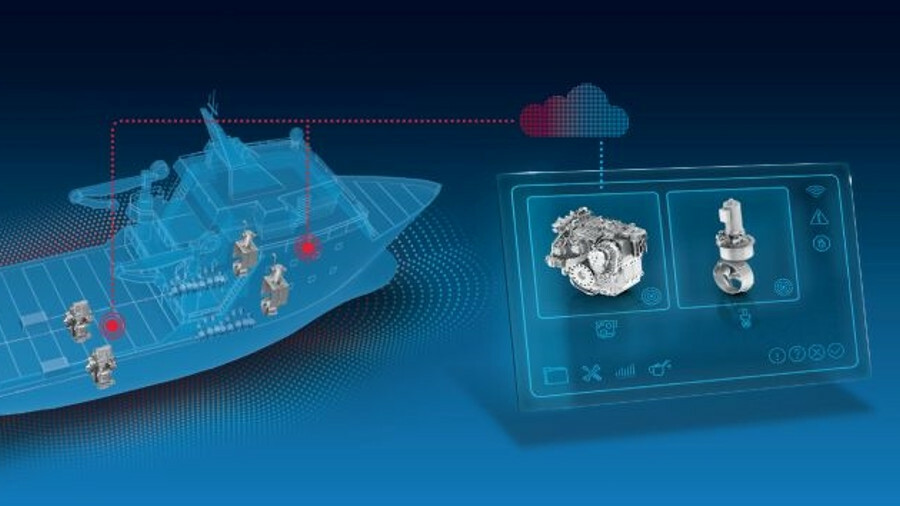 X ZF's thruster monitoring identifies when components need to be replaced or repaired earlier than e