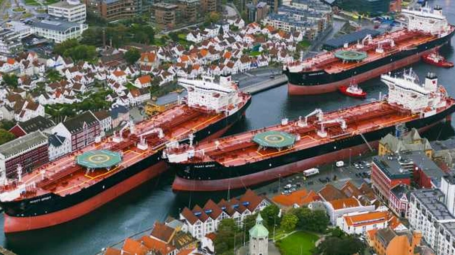 Teekay Offshore berthed three shuttle tankers with Marlink VSAT on board in Stavanger, Norway