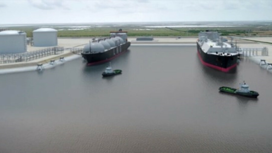 Rendering of Port Arthur LNG export facility, which will have a nameplate capacity of 11 mta