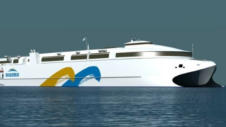 Buquebus will build the world's largest aluminium ferry featuring LNG dual-fuel propulsion