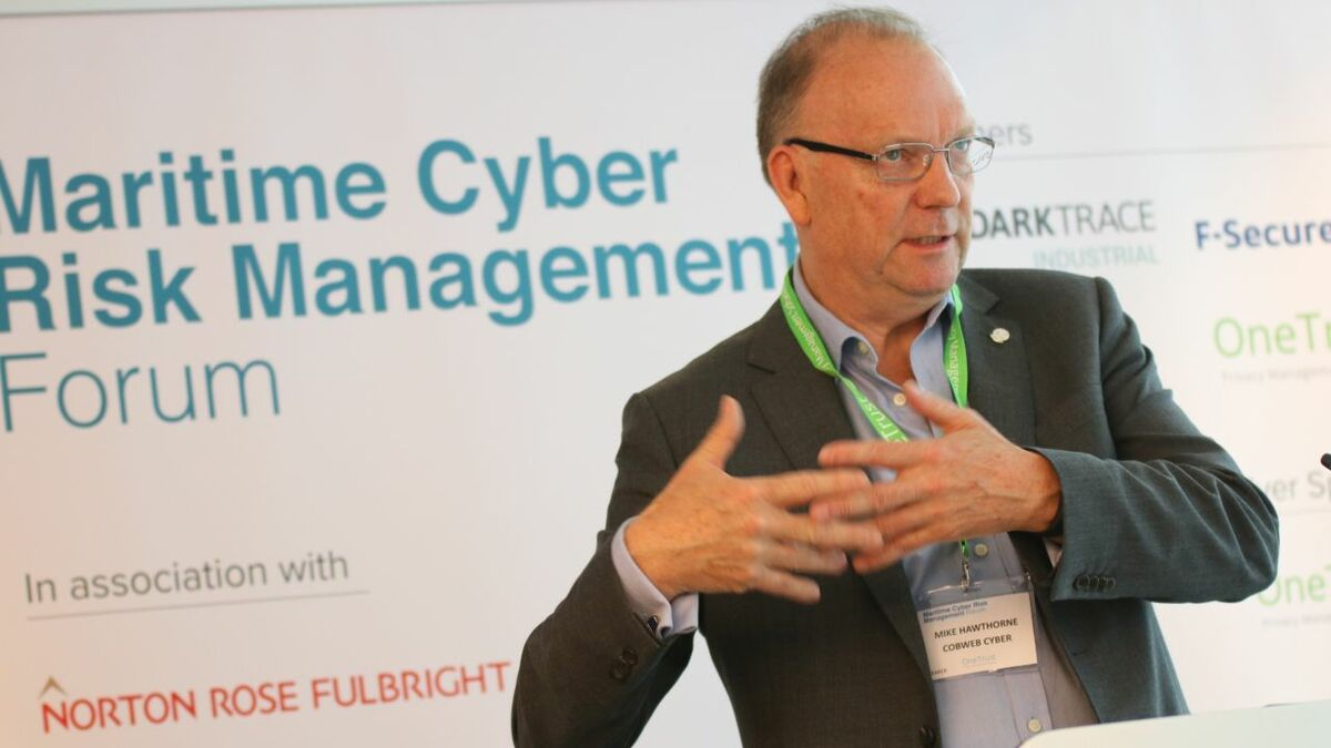 Michael Hawthorne (Cobweb Cyber): Risk on-board vessels is risk for the whole company