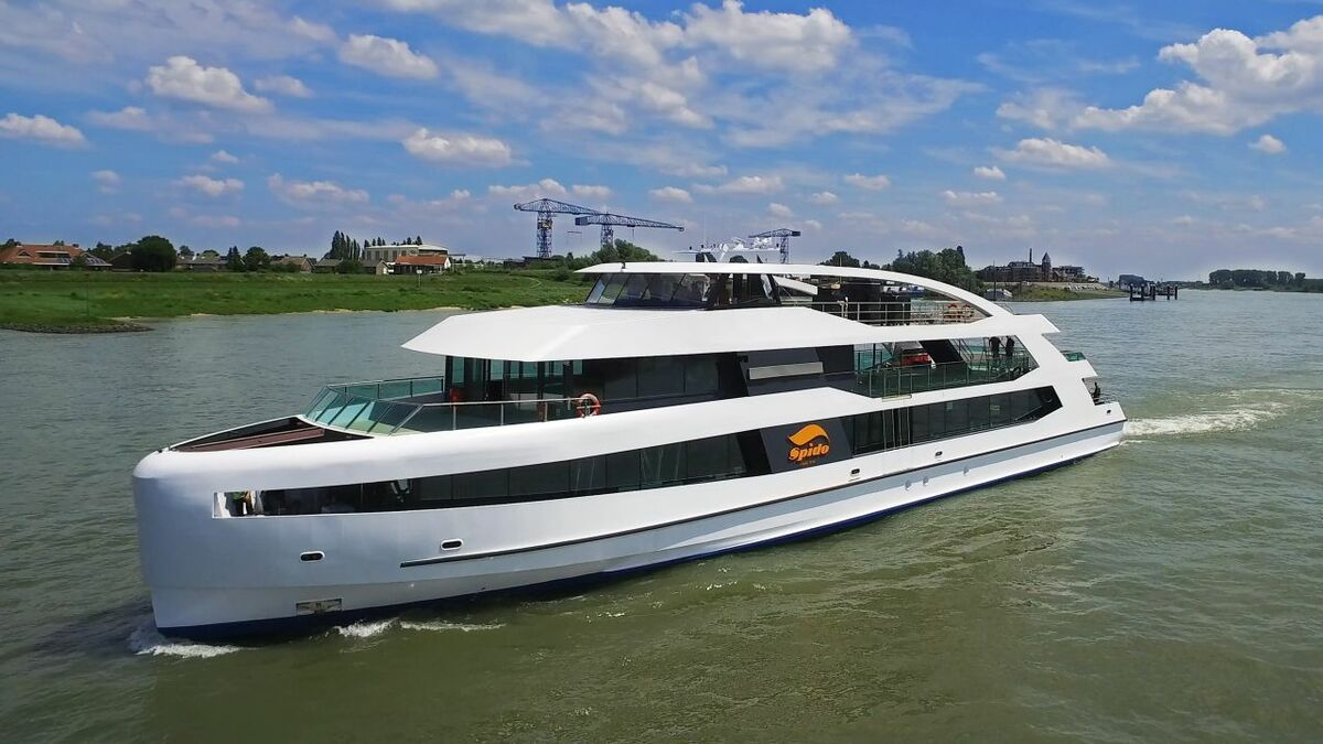 Environmentally-friendly features include solar panels above the foredeck and in the sides of the to