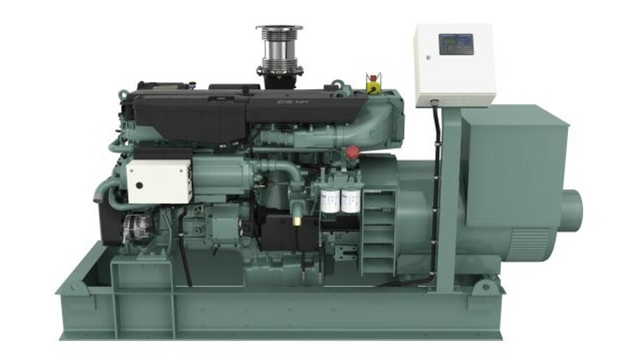 X The new genset version of the D16 engine caters for growing on-board power demand and hybrid appli