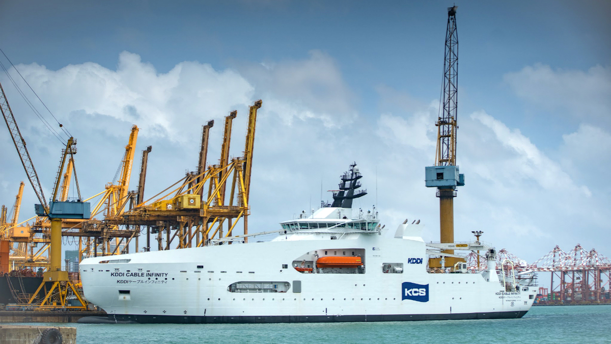 KDDI Cable Infinity is the largest vessel built by Colombo Dockyard