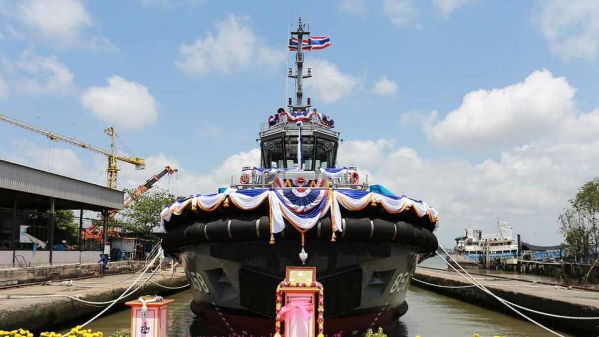 Italthai Marine launched a 32-m tug in April for the Royal Thai Navy