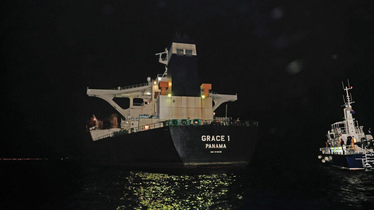 Iranian tanker Grace 1 detained in Gibraltar