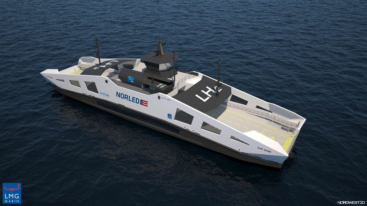 Norway's first hydrogen-powered car ferries take shape